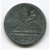 Ng ЦВИЗЕЛЬ - 2 ПФЕННИГА 1919