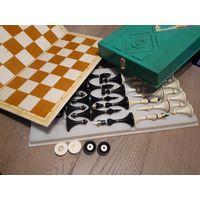 Шахматы советские, сувенирные, СССР + шашки