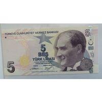 Турция 5 лир 2009 (UNC)