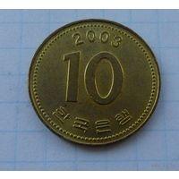 10 вон Корея 2003 год.