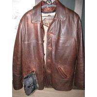 Куртка кожаная (осень-зима) р.52-54 (xxxl)