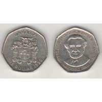 Ямайка km164 1 доллар 1996 год BUSTAMANTE (al)(f15)