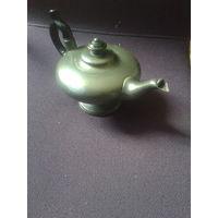 Старинный Английский чайник с клеймом и остатками серебрения С рубля