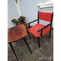 Ретро кресло+столик,одним лотом.70г.