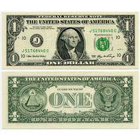 США. 1 доллар (образца 2006 года, J, Миссури (Канзас Сити), P523, aUNC)