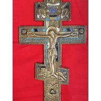 Старинный крест 19 ВЕК 4 цвета эмали ОРИГИНАЛ