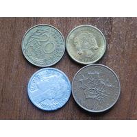 Четыре монеты с 1 рубля
