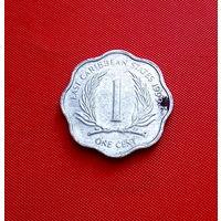 29-21 Восточные Карибы, 1 цент 1999 г.