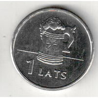 Латвия 1 лат 2011 Пивная кружка