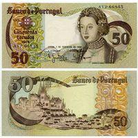 Португалия. 50 эскудо (образца 1980 года, P174b, подпись 2, aUNC)