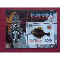 Восточный Тимор 2001г. Морская фауна. Насекомые.