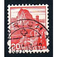 24: Швейцария, почтовая марка, 1936 год, номинал 20с, SG#375A