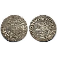 Полугрош 1560, Жигимонт Август, Вильно. Окончания легенд: Ав - L, Рв - LITVA. Остатки штемпельного блеска