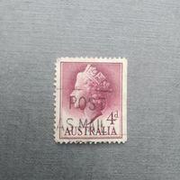 Марка Австралия 1957 год. Королева Елизавета II