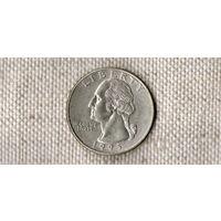 США 25 центов 1995 D //(Ок)