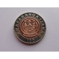 Руанда. 100 франков 2007 год КМ#32 UNC