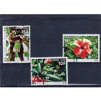 Коморские острова.Ми-6,9,10. Цветы.1977