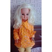 Кукла гдр с шикарными волосами