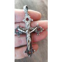 Большой серебряный крестик.925