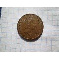 Гибралтар 2 пенса 1991г
