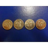 Исландия 5 крон 1981,1999,2005,2008-цена за монету
