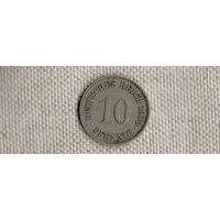 Германия 10 пфеннигов 1900F(Ab)