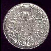 1 Рупия 1942 год Британская Индия