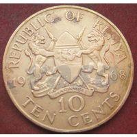 6433:  10 центов 1968 Кения