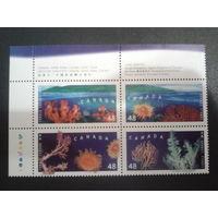 Канада 2002 Кораллы квартблок