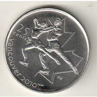 Канада 25 цент 2008 XXI зимние Олимпийские Игры, Ванкувер 2010 Фигурное катание