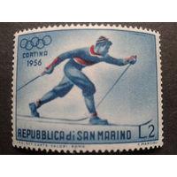Сан-Марино 1955 олимпиада, лыжник