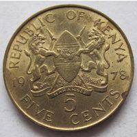 Кения 5 центов 1978 Президент Джомо Кениата