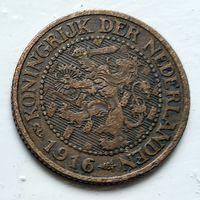 Нидерланды 2.5 цента, 1916 1-9-21