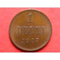 1 пенни 1907 медь