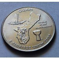 25 центов, квотер США, остров Гуам, P