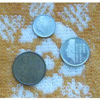 Нидерланды 5, 10, 25 центов 2000 года. Миллениум. Беатрикс. R