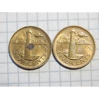 Барбадос 5 центов (список)