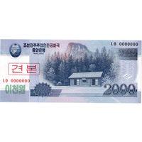 КНДР, 2 000 вон, 2008 г., образец, UNC