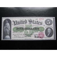 КОПИЯ 5 ДОЛЛАРОВ США  1862 ГОД