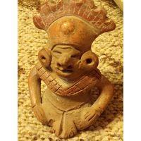 Терракотовая фигурка.статуэтка. Ацтеков Майя.