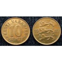 W: Эстония 10 сентов 1997, Краузе # 22 (244) Распродажа