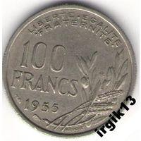 100 франков 1955 г. Франция.