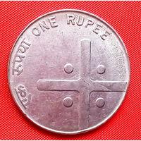 04-11 Индия, 1 рупия 2005 г. Единственное предложение монеты данного года на АУ