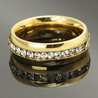 """Кольцо  под """"золото"""" с однорядными кристаллами. размер 9. распродажа"""