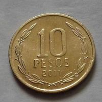 10 песо, Чили 2011 г.