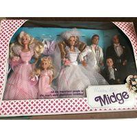 Midge Wedding Day Barbie Ken Alan Todd Kelly набор 6 кукол 1990год
