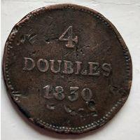 Гернси 4 дубля, 1830 1-9-3
