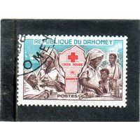Дагомея. Mi:DY 196. Медсестры и пациенты. Серия: красный Крест. 1962.