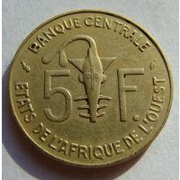 Западная Африка  5 франков 1978 г