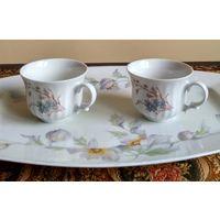 Чашки Wunsiedel Bavaria, костяной фарфор, чайные, старые, 2 шт., кружки, Германия